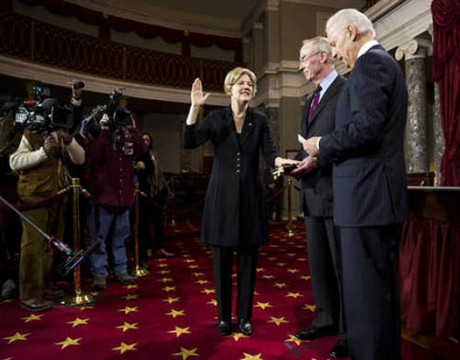 Help is on the way: Elizabeth Warren sworn into US Senate on Jan. 3