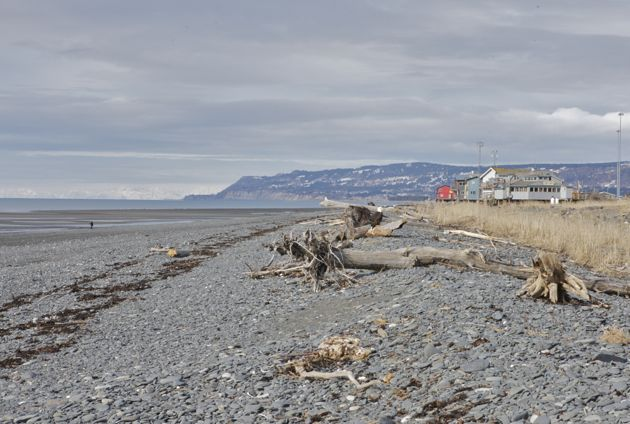 The view up the Homer Spit.