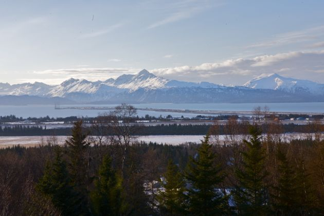 Coffee, and the view of Kachemak Bay from the deck. A gorgeous morning.