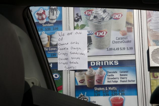 They were out of a couple things at the Soldotna Dairy Queen.