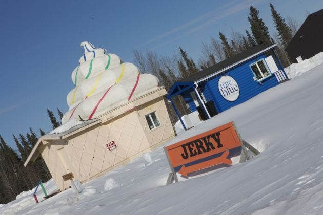 You can buy a giant ice cream hut. And jerky!