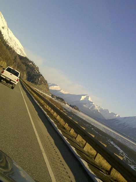 The Seward Highway South somewhere between Anchorage and Girdwood.
