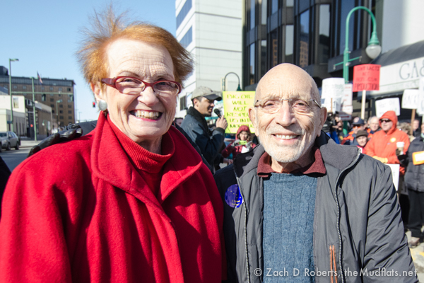 Two Alaskan originals from the days of statehood - Katie Hurley, and Vic Fischer.