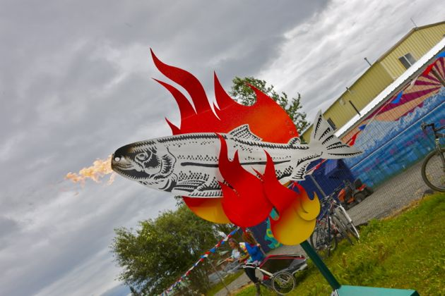 Fire-breathing salmon.