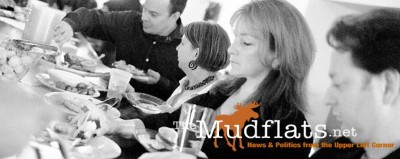 The Mudflats sponsored an Alaska Wild Salmon party at Netroots Nation in Minnesota in 2011. Editors Jeanne Devon and Shannyn Moore teamed up with co-creator of the Daily Show Lizz Winstead to host the event designed to educate the progressive new media community about Pebble Mine and its threat. Alaska Bristol Bay salmon was the featured food.