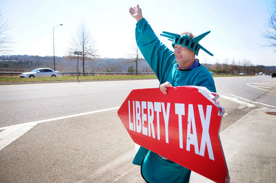 A Liberty Tax guy.
