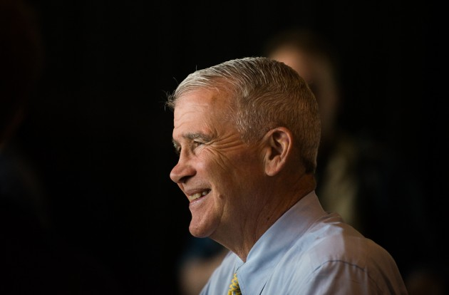 """Lt. Col. Oliver North performs the invocation at the NRA Leadership Forum in Nashville, proclaiming his """"demand"""" for a President with integrity...(photo ZD Roberts)"""