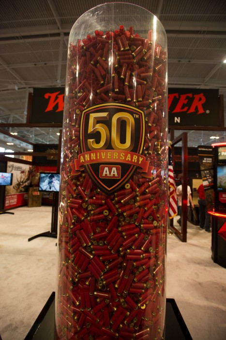 """It's like """"Guess how many jellybeans,"""" only with shotgun shells. (photo: ZD Roberts)"""
