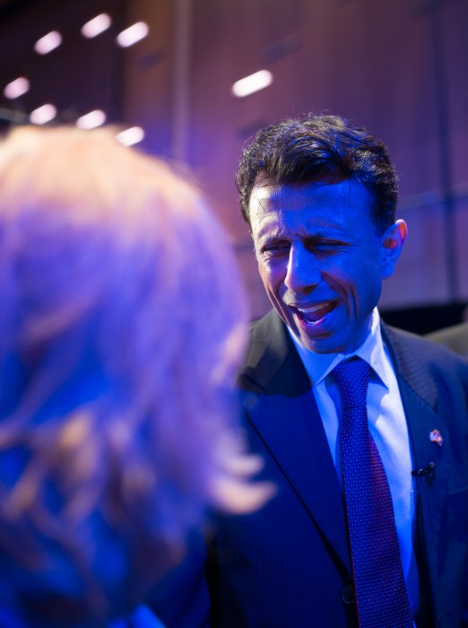 Louisiana Governor Bobby Jindal at the NRA annual meeting in Nashville. (photo: ZD Roberts)